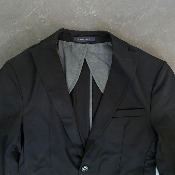Zara Men Slim Fit Blazer Black 36